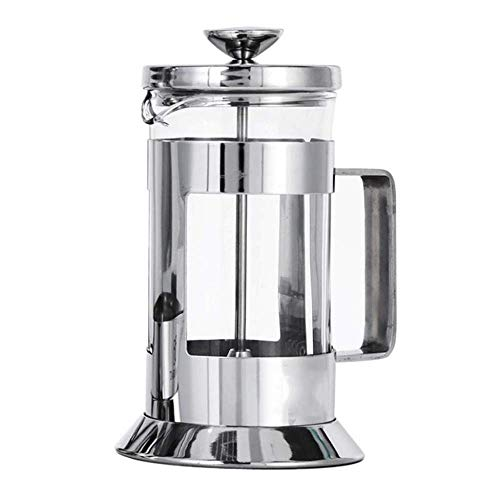 Best Manual Coffee Espresso Maker Pot Stainless Steel Glass Teapot French Coffee Tea Percolator Filter Press Plunger, 350ML Coffee Machine for Home Kitchen (Size : 350ML)