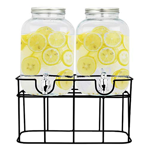 Top Choice 2415-3562 2 Dispensadores Bebidas Vitrolero Vidrio Mason Jar Agua 10l