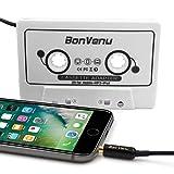 Reshow Reisen Kassettenadapter für Autos – Hören Sie die Musik auf Smartphones, MP3-Player oder einen Walkman durch einen Standard Autokassettenspieler - Retro Musik-Konverter -