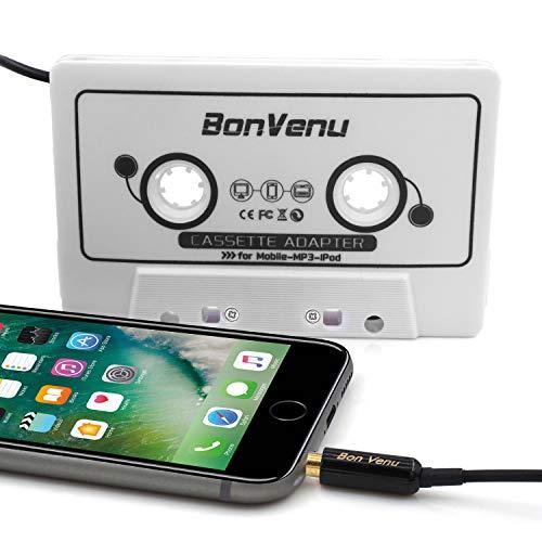 Adaptador Cassette Coche de Audio para automóvil Reshow Premium - Auxiliar al Tablero de Instrumentos, Reproductor de MP3 y teléfono Inteligente