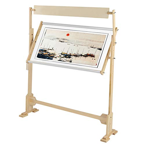 AYNEFY Adjustable Quilting Frame, Wooden Cross Stitch Frame Embroidery Stand for Needlework DIY Art & Craft, 34.4 x 40.9 inch