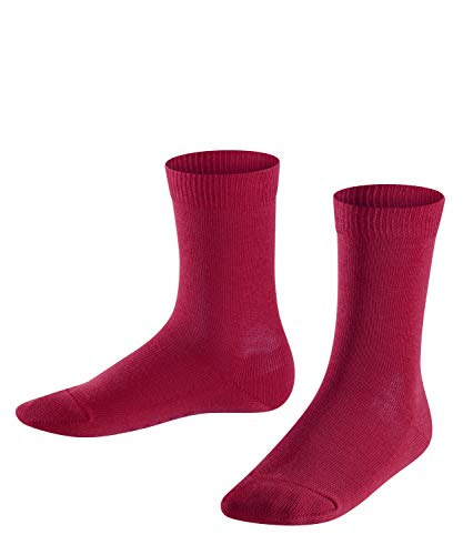 FALKE Kinder Socken Family, 94% Baumwolle, 1 Paar, Rot (Red Plum 8236), Größe: 23-26