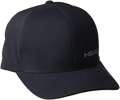 Head Delta Flexfit Gorra de Tenis, Unisex Adulto, Negro, Talla Única