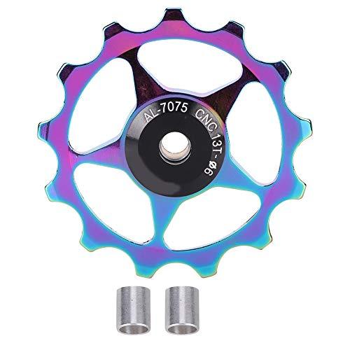 ROSEBEAR Polea de Guía de Rodamiento de Polea de Cambio Trasero de Bicicleta de Montaña de Aleación de Aluminio (Colorido- 13T)