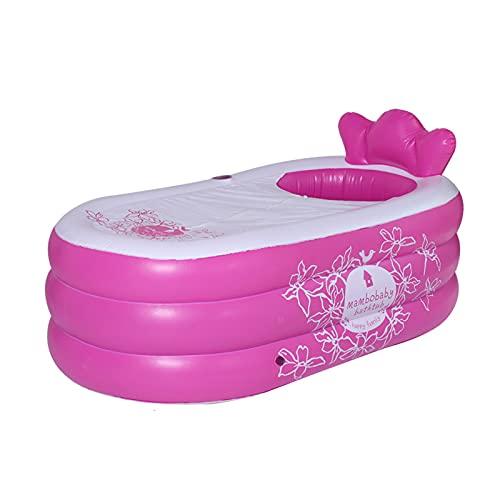 YHSW Bañera Inflable portátil para Adultos,bañera Plegable con Bomba de Aire,hidromasaje Antideslizante Adultos y niños (150cm*95 * 80 cm)