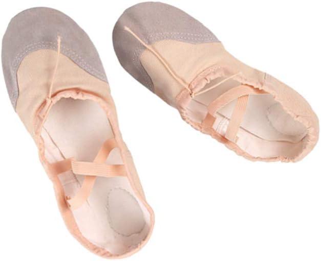 Healifty Ballet Dancing Shoes Ballet Slippers Pilates Shoes Yoga Shoes Dance Gymnastics Shoes for Dancer Children Adults Size 31