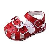 Prewalker Zapatos Auxma Las Sandalias Huecos de Las Flores de los bebés...