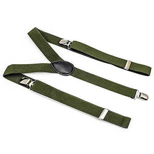 Bretelles de haute qualité pour Femmes Hommes 30 Design Vert Khaki [011]