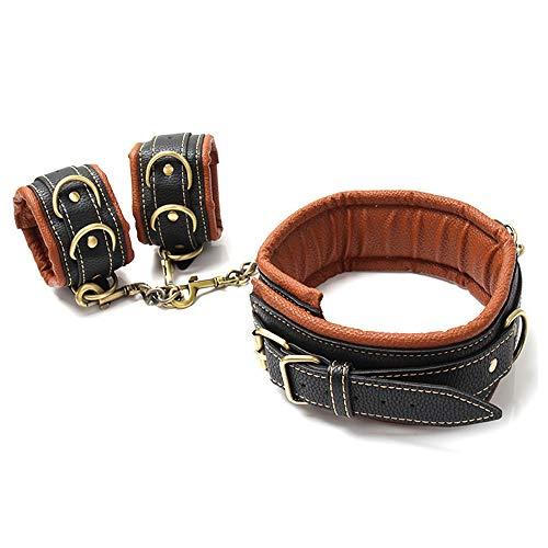 Dream-D Halskette aus Bronze mit Handgelenken aus PU-Leder