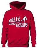 Sweat à capuche Evolution of Rugby pour enfant 5-13 ans - Rouge - 7 ans