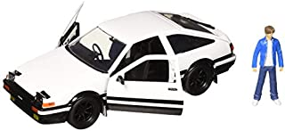 Jada New DIECAST Toys CAR 1:24 W/B - Metals - Hollywood Rides - Initial D: First Stage - Toyota Trueno & Takumi Figure 99733, White