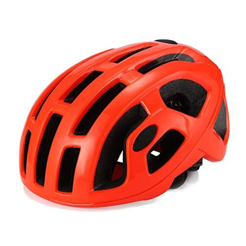 Casco Bicicleta Casco Hombres Mate neumática día de Carrera Casco Profesional MTB Casco Racing Ultralight Ciclismo con Seguridad Cap Helmets Orange