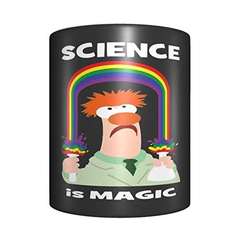 Science is Magic - Taza de café de cerámica, diseño único y novedoso, ideal para regalo de cumpleaños