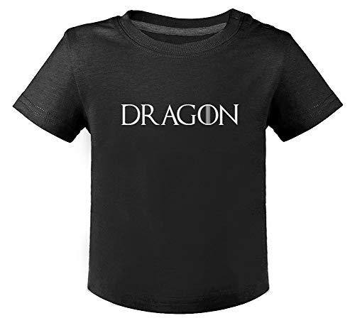 Green Turtle Dragon T-Shirt Bébé Unisex 12M Noir