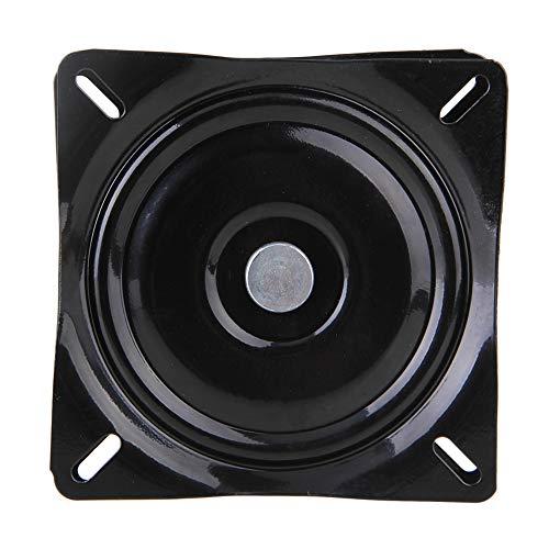 BQLZR A3 Plaque carrée pivotante en acier noir avec roulement à billes pour tabouret et chaise de bar, noir, BQLZRN25109