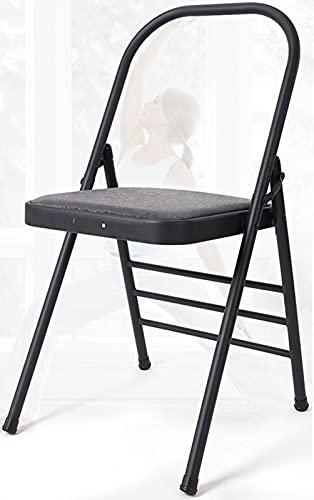 FGHDFH 35'Foldable Home Yoga Hilfsstuhl, Backless Yoga Chair Für Flexibilität Und Krafttraining, Yoga-Stuhl Mit Abnehmbarem Mutigem 25,6-Mm-Stahlpfeife, Idealer Urlaub Geschenkstuhl,Blau