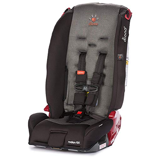 Diono Radian R100 All-in-One Convertible Car Seat, For Children from Birth to 100 Pounds, Black Mist (Discontinued)