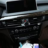 YUECHI 3 Colors Alumium Alloy Mobile Phone Holder Trim for BMW X5 F15,for BMW X6 F16, 2014-2020 (Black)