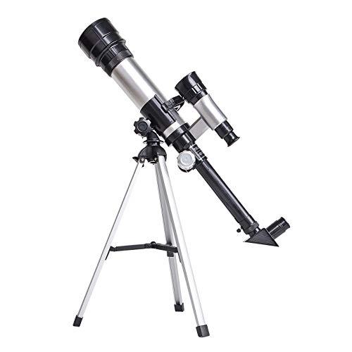 JQq Lunar Teleskop Luxuspaket für Kinder Anfänger Fernrohr für Astronomie Erwachsene mit brechend, 18 x 60 x, dreieckiger Metallrahmen, Größe 9,1 x 21,3 x 22,8 '', Tripod Aerospace Alumina