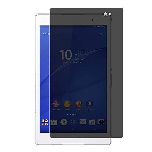 Vaxson Protector de Pantalla de Privacidad, compatible con Sony Xperia Z3 Tablet Compact SGP621 SGP611 SGP612 8' [no vidrio templado] TPU Película Protectora Anti Espía