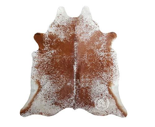 Koeienhuid Tapijt Zout en Peper, Bruin en Wit 220 x 200 cm - Premium kwaliteit van Pieles del Sol
