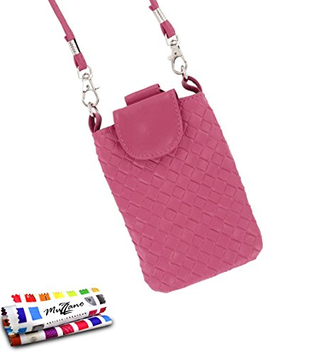 MUZZANO Tasche Alcatel OT/6033[CityPoche Premium] [Rosa] Eingabestift und Reinigungstuch angeboten–Der Schutz stoßfest ultimative, Elegante und nachhaltige für Ihr Alcatel OT/6033