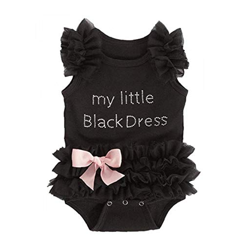 70 cm de bebé Mi pequeño Vestido de Onesie Negro, Negro, (0-6 Meses) joyería de fantasía