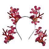 Beaupretty 3pcs navidad sombreros cornamenta duradera cuerno cervatillo adorable accesorio de pinzas para el cabello pelo del aro del pelo de Navidad para el partido cosplay de máscaras