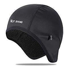 ICOCOPRO cycling cap with ear protection, sunglasses hole - Ultimate thermal retention - ideal for running, cycling, skiing and other winter sports