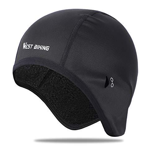 ICOCOPRO Fahrradmütze mit Ohrenschutz, Sonnenbrillenloch – Ultimative thermische Retention – ideal zum Laufen, Radfahren, Skifahren und andere Wintersportarten