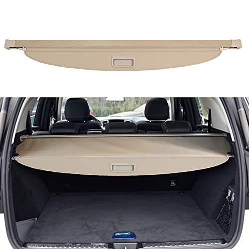 BOPARAUTO Cargo Cover for Mercedes Benz GLE 2016 2017 2018 2019/Benz ML Series ML350 2012 2013 2014 2015 Beige Rear Trunk Shade Cover