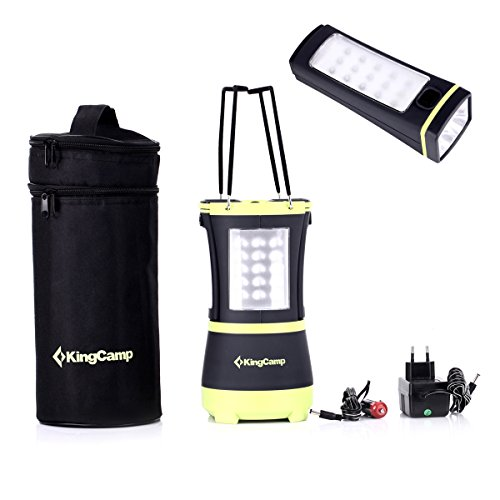 KingCamp Rechargeable 70 LEDs Hanging Camping Lantern with Two Detachable Flashlight Torches