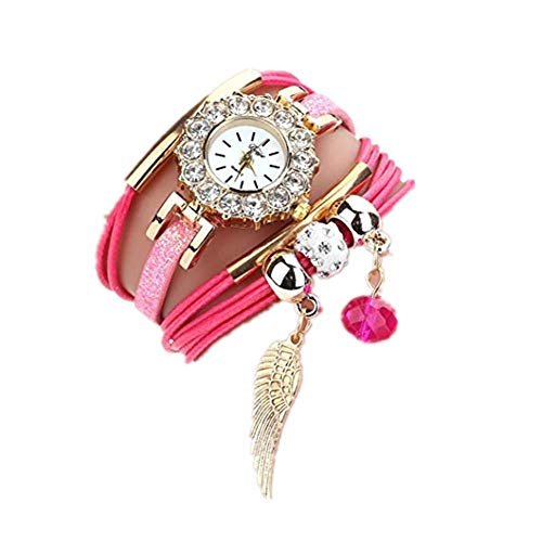 Relojes de Mujer Rosa 2018 Reloj de Cuarzo Popular Pulsera Piedras Preciosas de Flor por ESAILQ