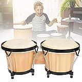 ボンゴドラム 打楽器 ウッド ハンドドラム 音楽愛好家向け 共鳴しやすい 長持ち 耐久性抜群 アフリカンドラム 子供 知育玩具 プレゼント