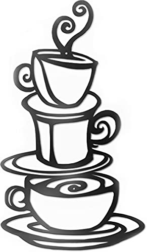 ViveGate Coffee Decorations for Kitchen, 15'X9' Coffee Decor for Coffee Bar Metal Art Wall Decor Coffee Signs Kitchen Decor