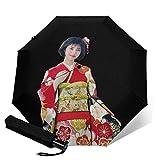 Model_Showa 折叠伞 一键自动开合 最新版 2层构造 耐强风 超防水 210t高强度玻璃纤维 防紫外线 隔热 结实 附带雨伞套