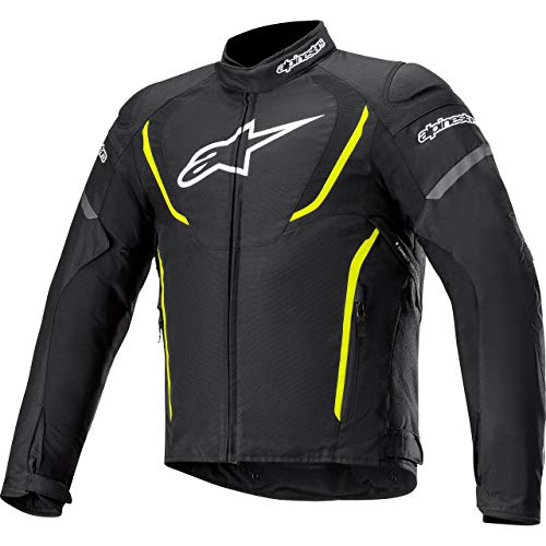 Alpinestars Motorradjacke mit Protektoren Motorrad Jacke T-Jaws V3 Waterproof Textiljacke schwarz/gelb 4XL, Herren, Sportler, Ganzjährig
