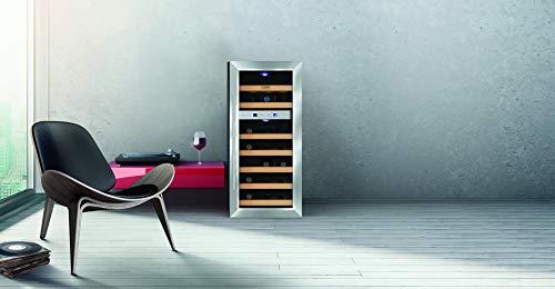 CASO WineDuett 21 - Design Weinkühlschrank mit zwei Temperaturzonen für Rotwein & Weißwein,...