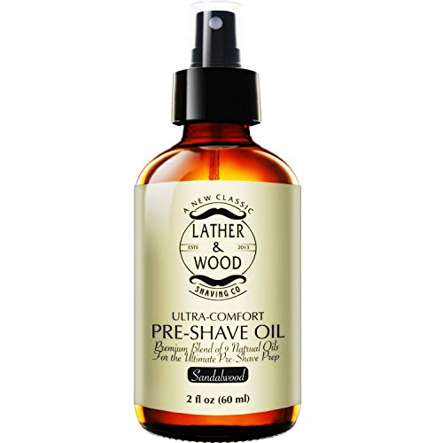 Best Pre-Shave Oil, Sandalwood, Premium Shaving Oil for Effortless...