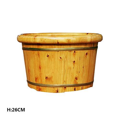FAP Pedicure Basin Ceder Hout Voet Bad Vat Houten Voet Tub Pedicure Gezondheid Voet Bad Vat Sauna Voet Massagers, Hout kleur, een