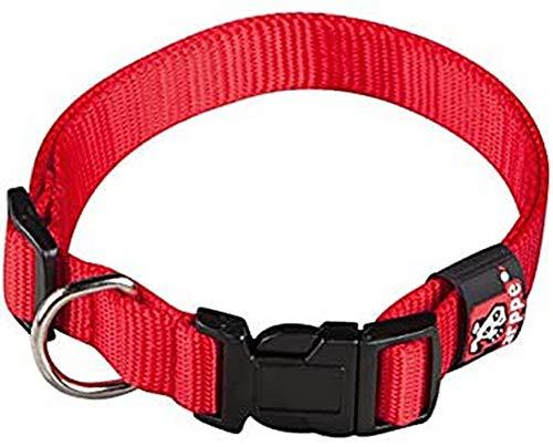 Arppe-Collare Nylon Arppe Regolabile 45 Cm, Colore: Rosso