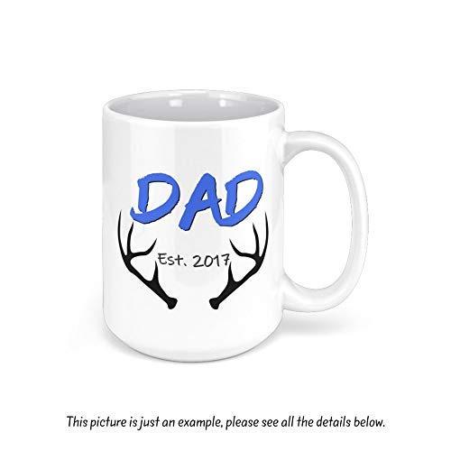 Taza con texto en inglés 'Dad' para el Día del Padre, taza divertida personalizada, regalo para papá, regalo para el padre