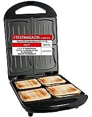 Emerio XXL Tosti-broodrooster, geschikt voor alle toastmaten, grote schelpvorm, geen lekkage, geen vlekken