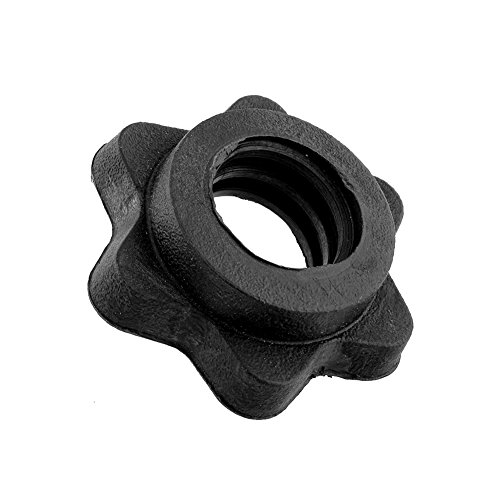 xinzhi 1 Paar Vinyl Spinlock Halsbänder, Standard Hantelstange Spinlock Halsbänder Sechskantmutter für Feste Hantel und Hantel