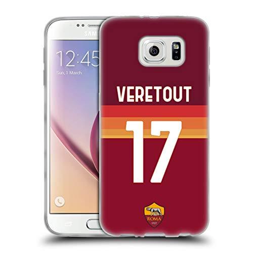 Head Case Designs Licenza Ufficiale AS Roma Jordan Veretout 2020/21 Giocatori Home Kit Gruppo 1 Cover in Morbido Gel Compatibile con Samsung Galaxy S6