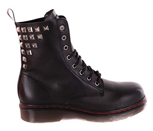Diesel Damen Boots Stiefeletten Stiefel Schwarz Echtleder #60 (40)