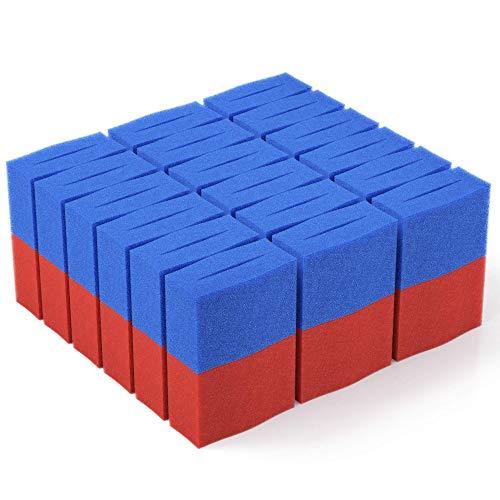 36x Ersatz Filter Schwamm passend für Oase BioTec 36 + Screenmatic | Set 18x Blau 18x Rot - Koi Teich Ersatzschwämme | Ersatzteile Durchlauffilter Wasserklärer