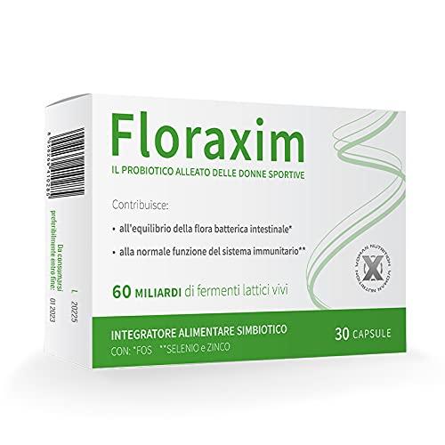 FLORAXIM - probiotico simbiotico alto dosaggio per flora intestinale - 60 miliardi di fermenti...