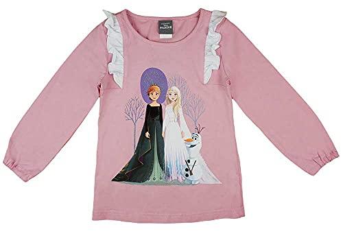 Kleines Kleid Mädchen Langarmshirt Pulli Oberteil in Größe 104 110 116 122 128 134 140 146 Eiskönigin (Modell 2, 128)