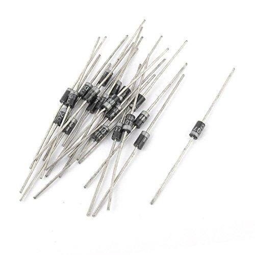 Aexit 20 stücke 1N4007 Modell 1A 1000 V Durchgangsloch Axialgleichrichter Sperrdiode (7c713a9facf3bfde69b0ed8cdf2e86b2)